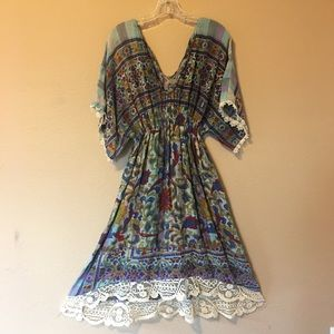 Vintage Handmade Indian Cotton Dress
